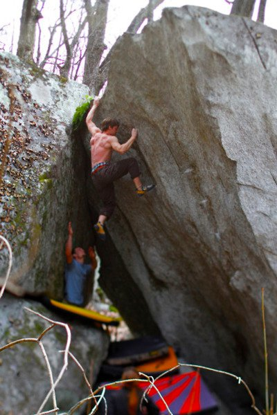 Bouldering in Pisgah Forest NC
