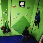Green Rock Climbing Wall