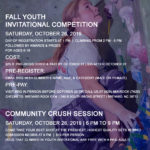 Fall Youth Invitational Comp & Community Crush Session