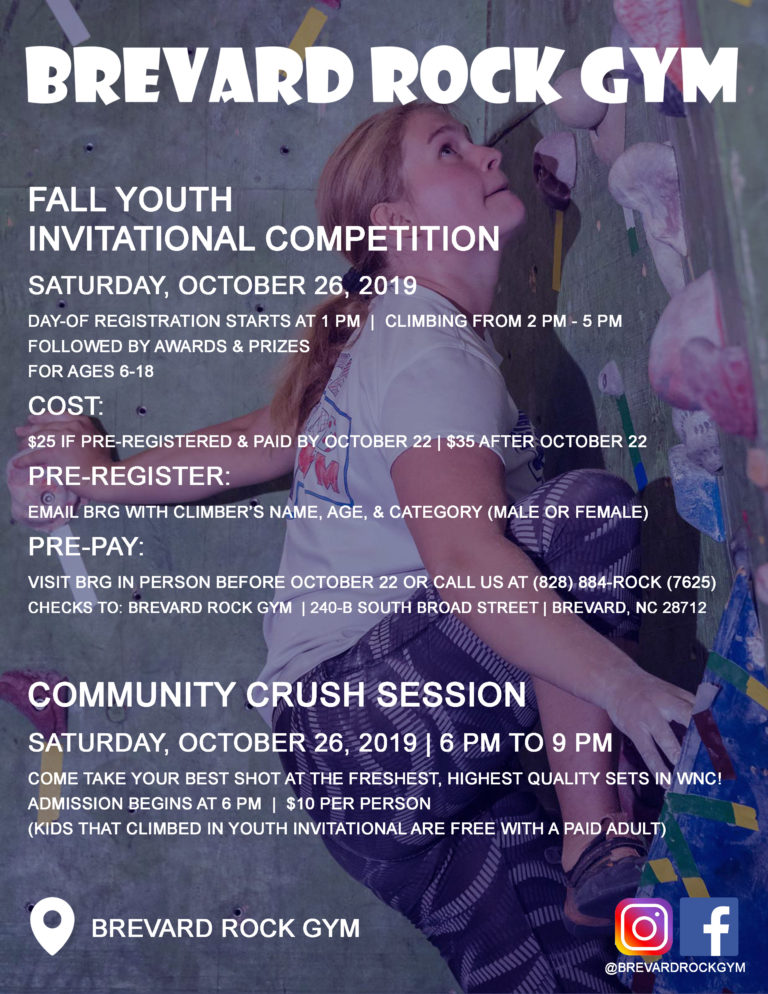 Fall Youth Invitational Comp & Community Crush Session